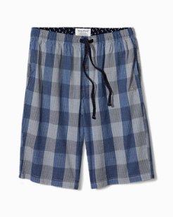 Big & Tall Bold Plaid Lounge Shorts