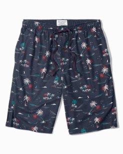 Seascape Flannel Lounge Shorts