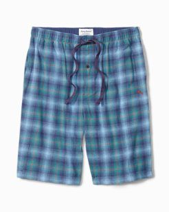 Fall Plaid Flannel Lounge Shorts