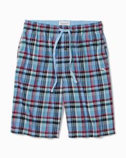 Big & Tall Winter Plaid Flannel Lounge Shorts