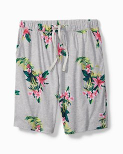 Large Floral Knit Lounge Shorts