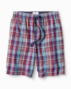 Plaid Paradise Flannel Lounge Shorts