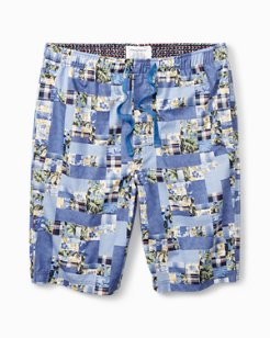 Patchwork Woven Lounge Shorts