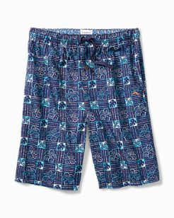 Flower Check Woven Lounge Shorts