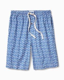 Geo Leaf Woven Lounge Shorts