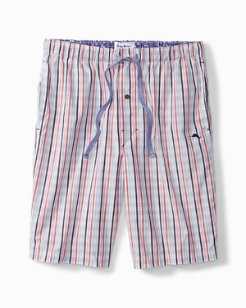Stripe Plaid Woven Lounge Shorts