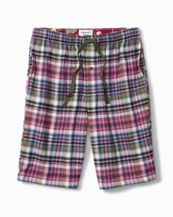 Holiday Plaid Flannel Lounge Shorts