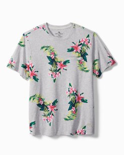 Large Floral Knit Lounge T-Shirt