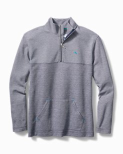 Double Knit Jacquard Half-Zip Sweatshirt