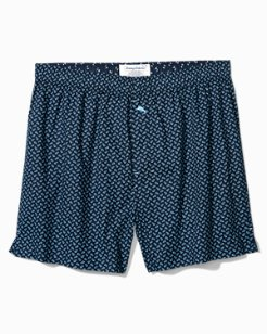 Big & Tall Tiny Fish Woven Boxers