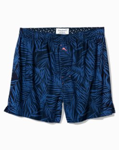 Big & Tall Midnight Leaves Woven Boxers