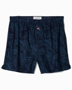 Midnight Leaves Woven Boxers