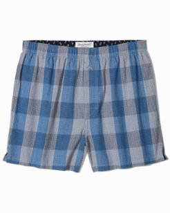 Bold Plaid Woven Boxers