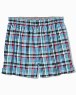 Winter Plaid Flannel Boxers