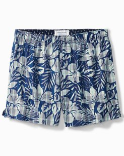 Bahama Plaid Floral Woven Boxers