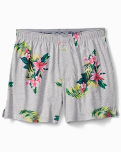 Large Floral Knit Boxers