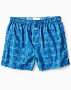 Bamboo Plaid Woven Boxers