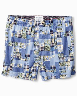 Patchwork Woven Boxers