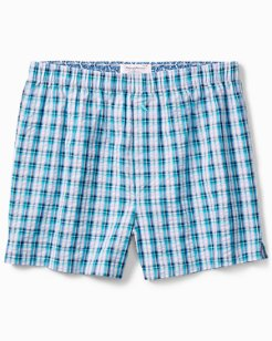 Sea Plaid Seersucker Boxers