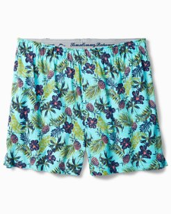 Floral Pineapple Knit Boxers