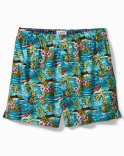 Big & Tall Mystic Print Woven Boxers