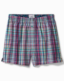 Plaid Print Woven Boxers
