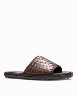 Shore Crest Leather Slide Sandals