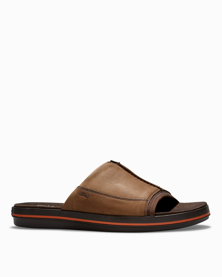 9bf257095d91 Main Image for Relaxology® Jareth Leather Slide Sandals