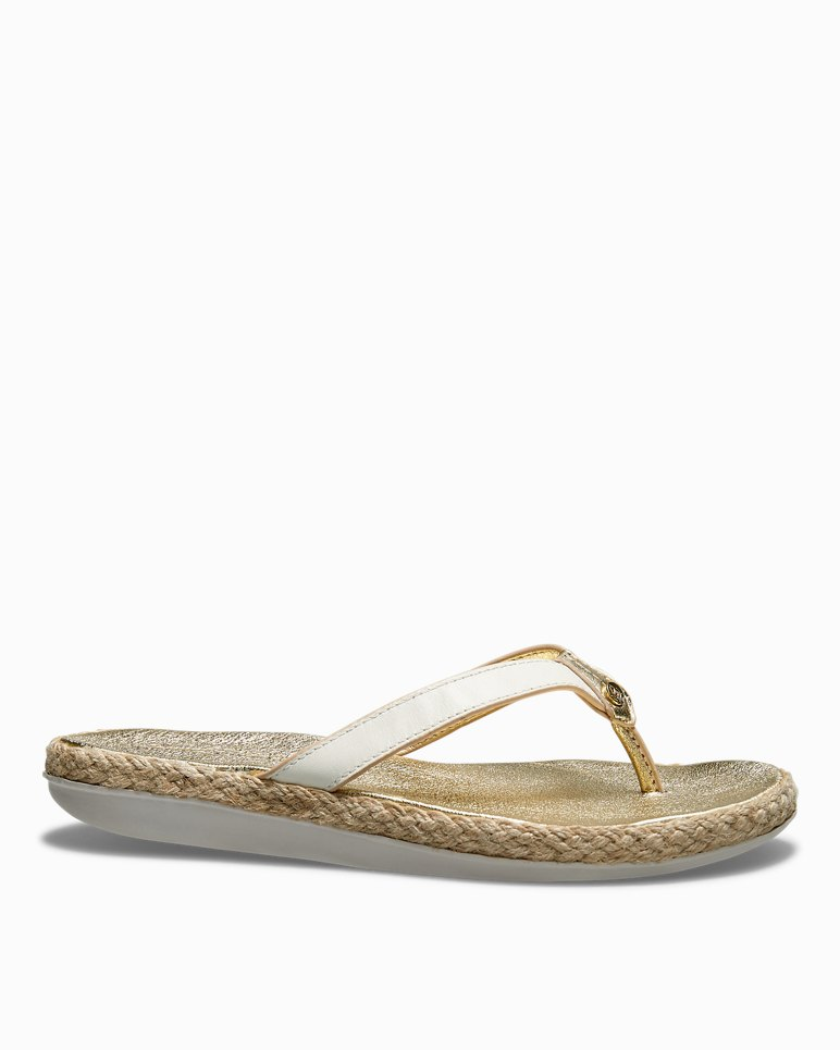 f427137681690 Main Image for Relaxology® Ionna Leather Flip Flops