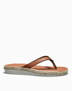 Relaxology® Ionna Leather Flip Flops