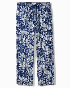 Bahama Plaid Floral Woven Lounge Pants