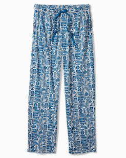 Woodblock Heather Knit Lounge Pants