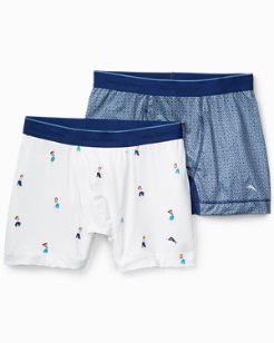 Hula Dance And Geo Tile Boxer Briefs - 2-Pack