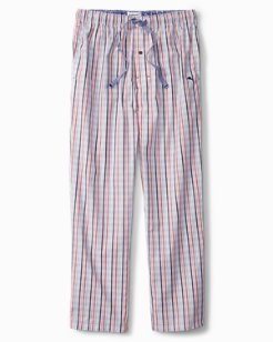 Stripe Plaid Woven Lounge Pants