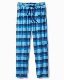 Plaid Knit Jersey Pants