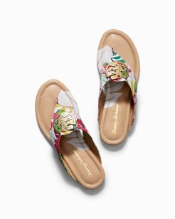 Floral Palms Sandals