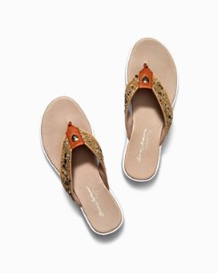 Relaxology® Ionna Jeweled Flip Flops