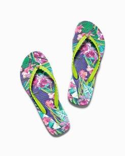 Whykiki Print Flip Flops