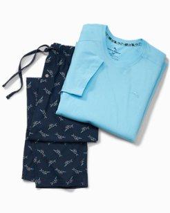 Tossed Marlin Pajama Set