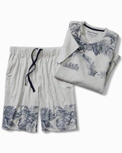 Big & Tall Floral Knit Lounge Short Set