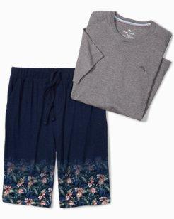 Floral Knit Lounge Short Set