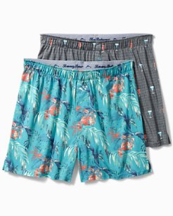 Drinks & Line Leaves Knit Boxers - 2-Pack