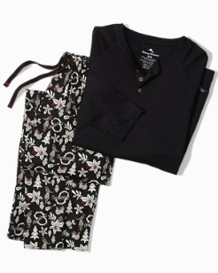 Hula Holiday Henley Pajama Set