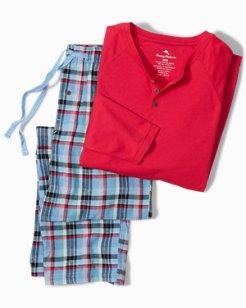Winter Plaid Henley Pajama Set