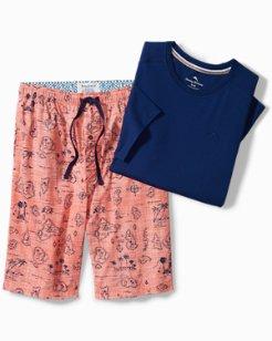 Hula Girls Lounge Shorts Set