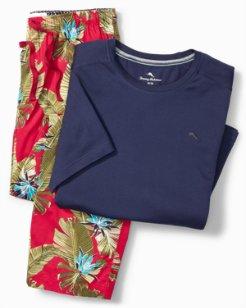 Big & Tall Hawaiian Floral Pajama Set