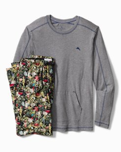 Parrot Party Woven Pajama Set