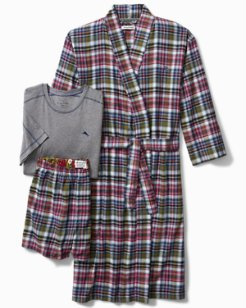 Holiday Plaid Robe Gift Set