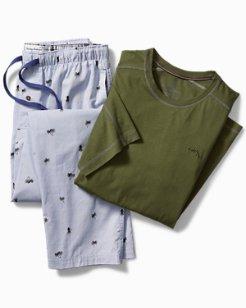 Palm Hula Woven Pajama Set