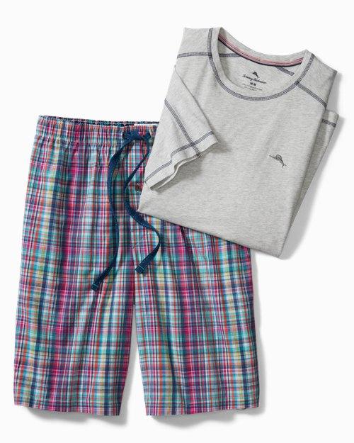 Big & Tall Plaid Loungewear Set